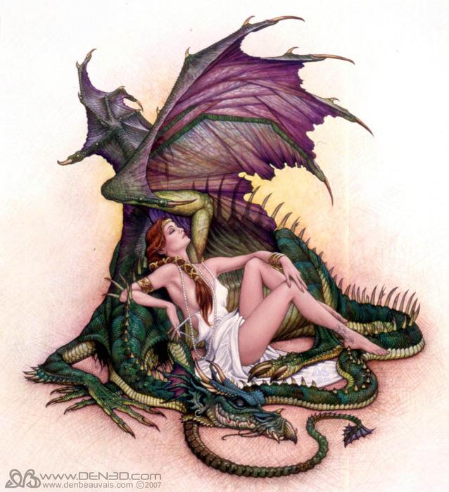 Мужчина дракон женщина кот кролик