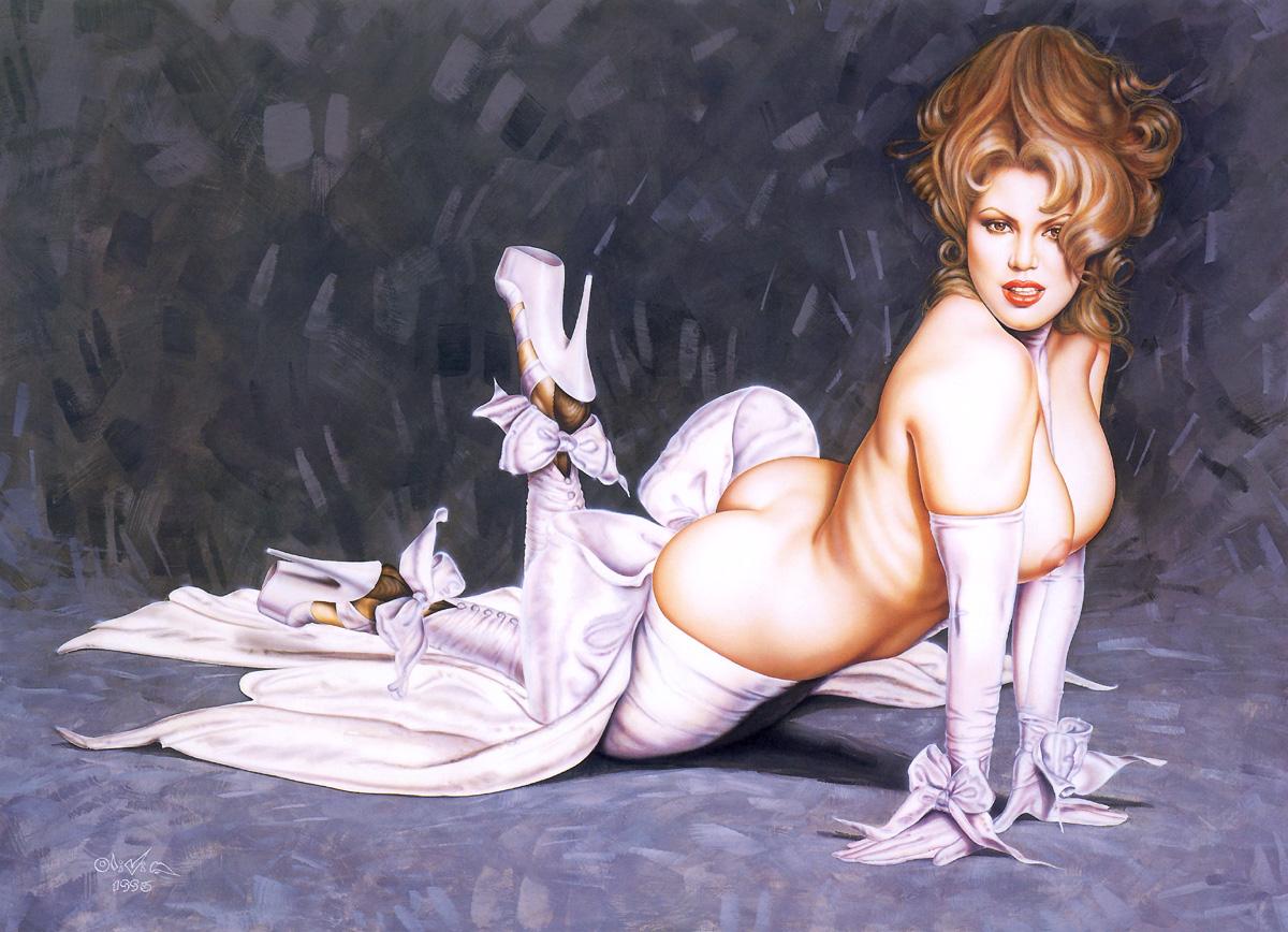Рисованные иллюстрации голых девушек и женщин 26 фотография