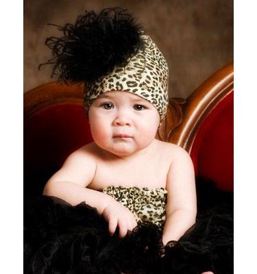детские головные уборы, под леопарда, маленькая модница